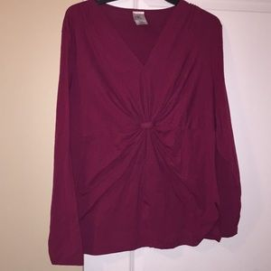 Ruched front shirt 2x